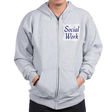 Social Work (blue) Zip Hoodie