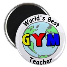 World's Best Gym Teacher Magnet