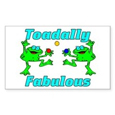 Toadally Fabulous Rectangle Decal
