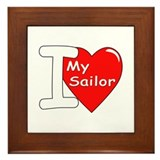 I Love My Sailor Framed Tile