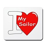 I Love My Sailor Mousepad