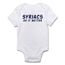 Syriacs do it better Infant Bodysuit