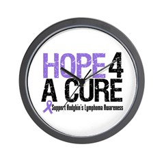 Hodgkin's Hope4aCure Wall Clock