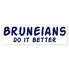 Bruneians do it better Bumper Bumper Sticker