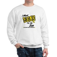 I Wear Gold For My Son 8 Sweatshirt