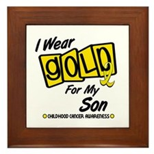 I Wear Gold For My Son 8 Framed Tile