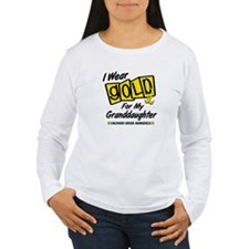 I Wear Gold For My Granddaughter 8 T-Shirt