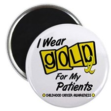I Wear Gold For My Patients 8 Magnet