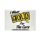 I Wear Gold For The Cure 8 Rectangle Magnet (100 p