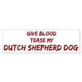 Tease aDutch Shepherd Dog Bumper Sticker (10 pk)