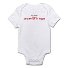 Tease aAmerican Hairless Terr Infant Bodysuit