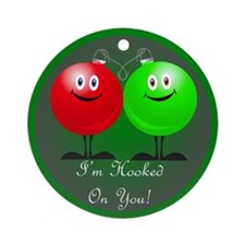 Hooked On You Christmas Ornament (Round)
