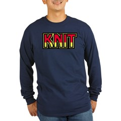 Kiss Long Sleeve Dark T-Shirt