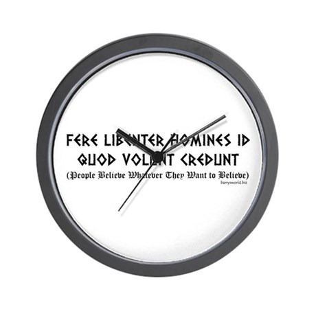 Fere libenter Wall Clock
