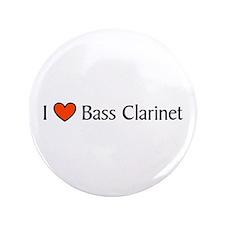 "Bass Clarinet Gift 3.5"" Button"