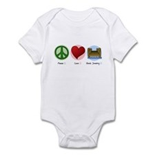 Peace Love Dock Jumping Infant Bodysuit