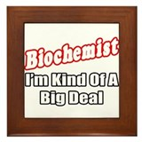 """Biochemist..Big Deal"" Framed Tile"
