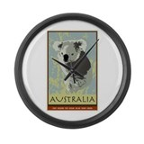 Australia I Large Wall Clock