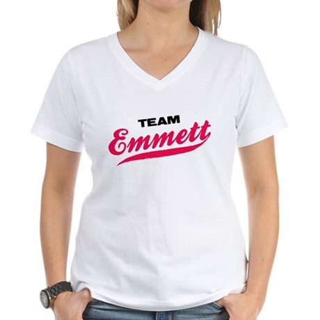 Team Emmett Twilight Women's V-Neck T-Shirt