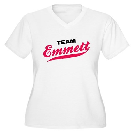 Team Emmett Twilight Women's Plus Size V-Neck Tee
