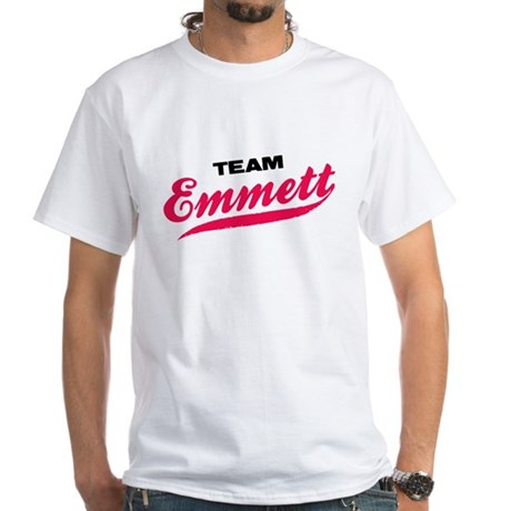 Team Emmett Twilight White T-Shirt