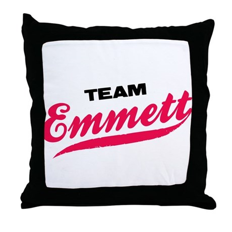 Team Emmett Twilight Throw Pillow