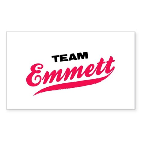 Team Emmett Twilight Rectangle Sticker