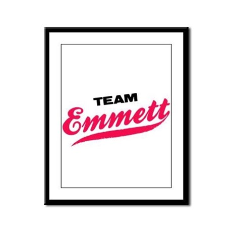 Team Emmett Twilight Framed Panel Print