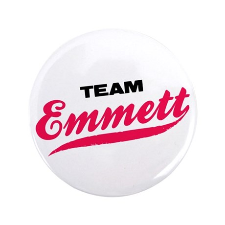 "Team Emmett Twilight 3.5"" Button"