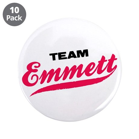 "Team Emmett Twilight 3.5"" Button (10 pack)"