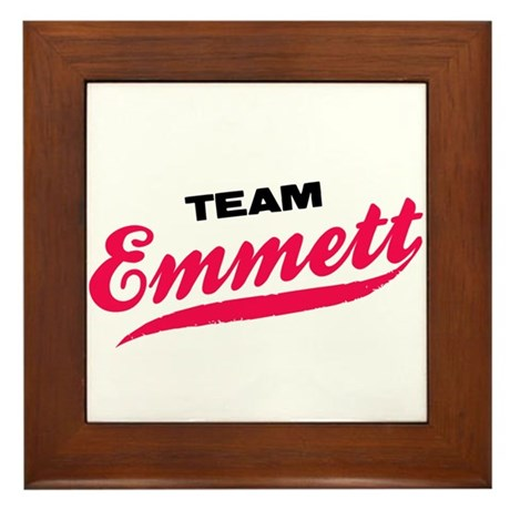 Team Emmett Twilight Framed Tile