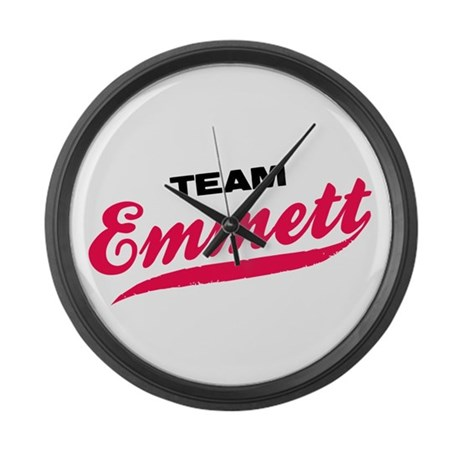 Team Emmett Twilight Large Wall Clock