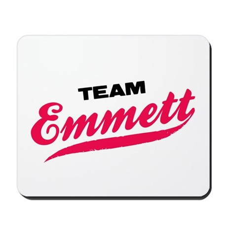 Team Emmett Twilight Mousepad