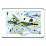 WWII 8th Air Force B-24 Liberator airplane Banner