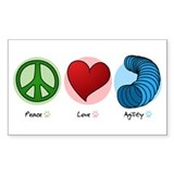 Peace Love Agility Rectangle Decal