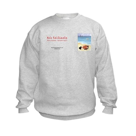 Christmas ~ Hawaiian Style Kids Sweatshirt
