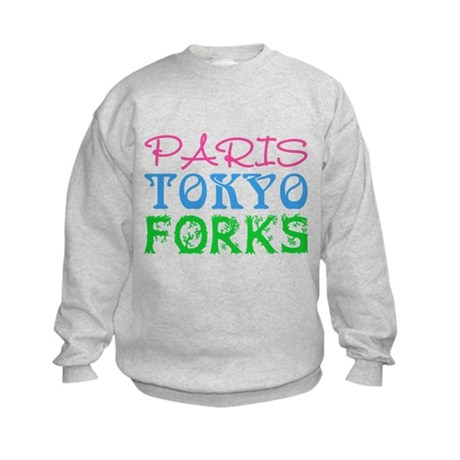Paris Tokyo Forks Kids Sweatshirt