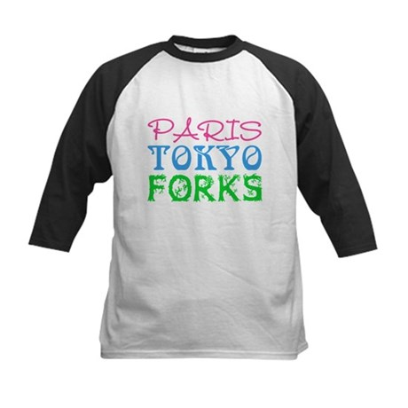 Paris Tokyo Forks Kids Baseball Jersey