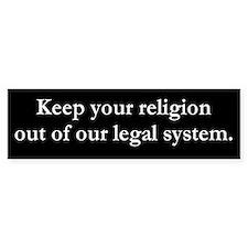 Religion Bumper Bumper Sticker