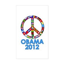 Re Elect Obama in 2012 Rectangle Stickers