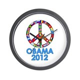 Re Elect Obama in 2012 Wall Clock