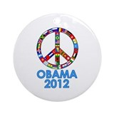Re Elect Obama in 2012 Ornament (Round)