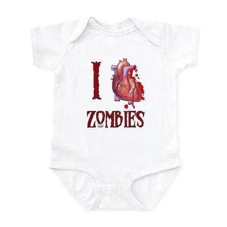 I *heart* Zombies Infant Bodysuit