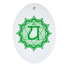 The Heart Chakra Oval Ornament