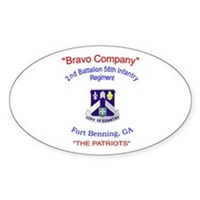 B Co 2/58 Oval Decal