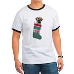 Puggle Christmas Ringer T