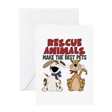 Rescue Animals Greeting Card