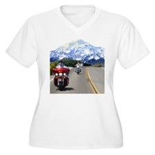 Motorcycles on tour in the mo T-Shirt