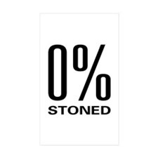 0% Stoned Rectangle Sticker 10 pk)