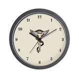 Artistic Chiropractic Emblem Wall Clock